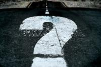 Question mark road distance