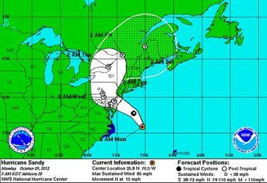 Steering Hurricane Sandy