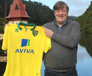 Norwich City director Stephen Fry