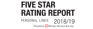 Five star ratings report | Personal Lines 2018/19 | Rated by brokers, Powered by Broker Service Survey | Insurance Times
