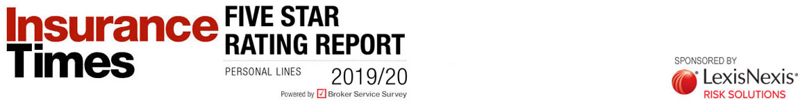 Five Star ratings report | Personal Lines 2019/20 | Insurer experience rated by brokers, Powered by Broker Service Survey | Insurance Times