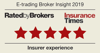 Five stars | Etrading Broker Insight 2019 | Insurer experience | Rated by bokers