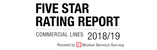 Five star ratings report | Commercial Lines 2018/19 | Rated by brokers, Powered by Broker Service Survey | Insurance Times